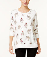 Style&Co. Style & Co. Petite Squirrel-Print Sweatshirt, Only at Macy's