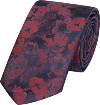 yd. Burgundy Oskar Floral 6.5cm Tie