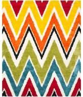 Safavieh Kids® Rainbow Zigzag 8-Foot x 10-Foot Shag Area Rug in Ivory/Multi