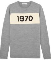 Bella Freud 1970 Intarsia Merino Wool Sweater - Gray