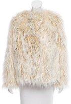 Dries Van Noten Fall 2015 Faux Fur Coat