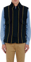 Sacai MEN'S STRIPED HEAVYWEIGHT WOOL-BLEND VEST