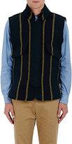 Sacai Men's Striped Heavyweight Wool-Blend Vest