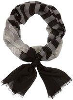 Jonathan Adler Santorini Stripe Oblong - Black/Grey