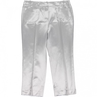 Christian Dior Grey Cotton Trousers