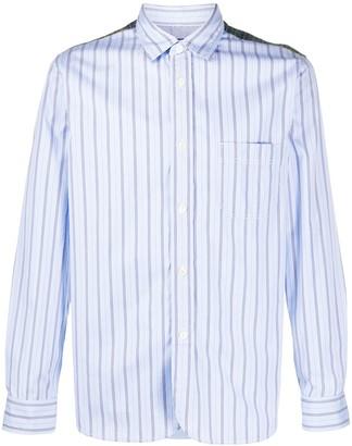 Junya Watanabe Striped Panel Cotton Shirt