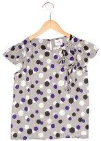 Milly Minis Girls' Polka Dot Short Sleeve Top