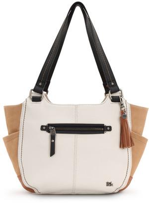 The Sak Women's Handbags Neutral - Neutral Block Kendra Leather Satchel