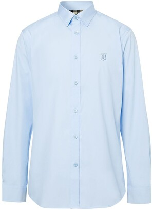 Burberry EKD-embroidered shirt