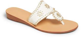Jack Rogers Jacks Demi-Wedge Whipstitch Thong Sandals
