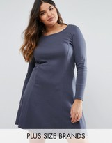Junarose Long Sleeve Swing Dress