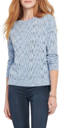 Nic+Zoe Mottled Stripe Pullover