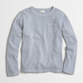 J.Crew Factory Kids' long-sleeve sunwashed garment-dyed pocket T-shirt