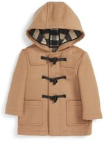 Burberry Brogan Hooded Wool Toggle Coat (Baby Boys)