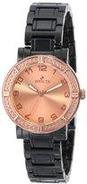 Invicta Women's 14900 Ceramics Rose Gold Dial Black Ceramic Watch