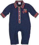 Florence Eiseman Knit Airplane Coverall w/ Plaid Trim, Size 3-18 Months