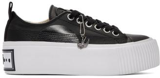 McQ Black Plimsoll Platform Sneakers