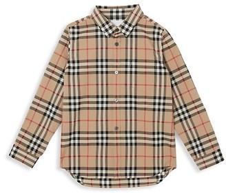 Burberry Little Boy's & Boy's Frederick Woven Cotton Check Shirt
