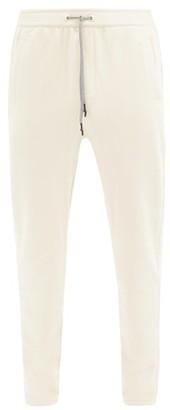BEIGE Falke Ess - Slim-leg Cotton-blend Jersey Track Pants - Mens