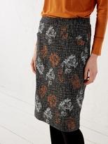 White Stuff Veg patch tweed emb skirt