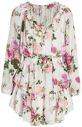 LoveShackFancy Venetian Island Popover Dress