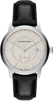 Burberry Unisex Swiss Black Leather Strap Watch 40mm BU10000