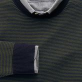 Charles Tyrwhitt Dark green and navy stripe merino wool crew neck jumper