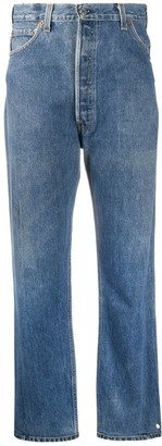 RE/DONE Cropped Straight Leg Jeans