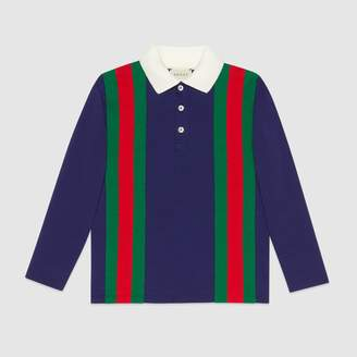 Gucci Children's jersey polo with Web