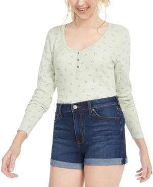 Ultra Flirt Juniors' Scallop-Edge Henley