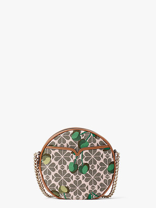 Kate Spade Spade Flower Jacquard Drum Cherry Medium Crossbody