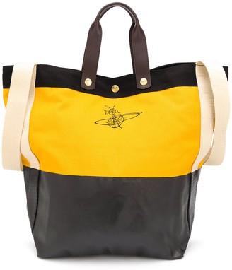 Vivienne Westwood Logo Print Bucket Tote Bag