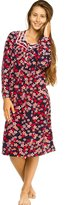 Patricia from Paris Women's Soft Fleece Long Sleeve Nightgown Pajama Sleepwear (Navy Floral, XL)