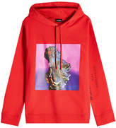Raf Simons Printed Cotton Hoody
