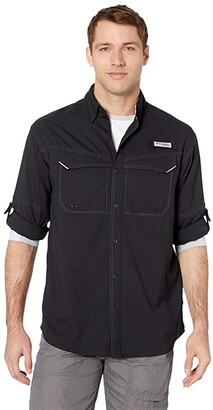 Columbia Low Drag Offshoretm Long Sleeve Shirt (Black) Men's Clothing