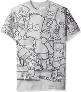 Liquid Blue Men's Simpsons Bart Sketch All Over Print Short Sleeve T-Shirt