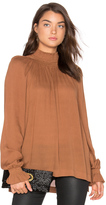 Blaque Label Ruched Funnel Neck Top