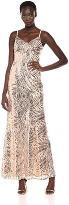 Ignite Women's Metallic Thin Strap Gown
