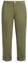 Miu Miu Cropped cotton-gabardine chino trousers