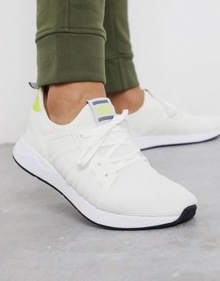 Jack and Jones mesh runner sneakers in white