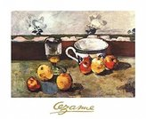 Cezanne 1art1 Posters: Paul Poster Art Print - Still Life With Apples, Cup And Glass (12 x 9 inches)