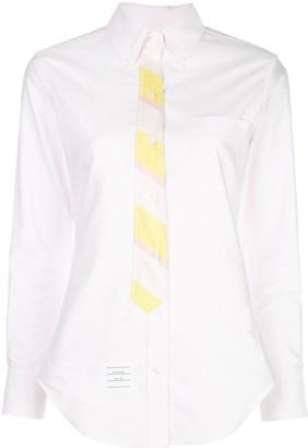 Thom Browne Trompe l'Oeil necktie Oxford shirt