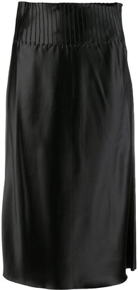 BEVZA Pleated Waist Pencil Skirt