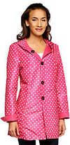 Susan Graver Reversible Printed Button Front Jacket w/ Hood