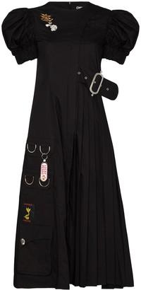 Chopova Lowena Puff-Sleeve Midi Dress
