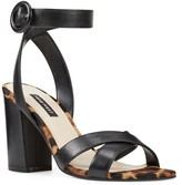 Nine West Nikki Women's Leather Block Heel Sandals