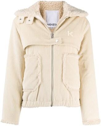 Kenzo Panelled Corduroy Jacket