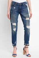 Blank Ripped Girlfriend Crop Jeans