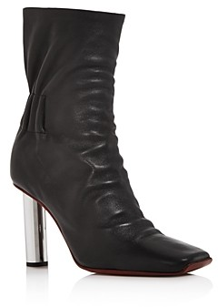 Proenza Schouler Women's Ruched Leather Booties