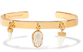 Isabel Marant Gold-tone Bone Bracelet - one size